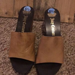 Juicy Couture real wood wedges